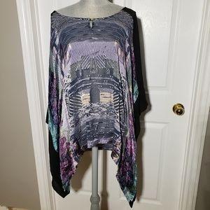 CITRON silk blend flowy blouse